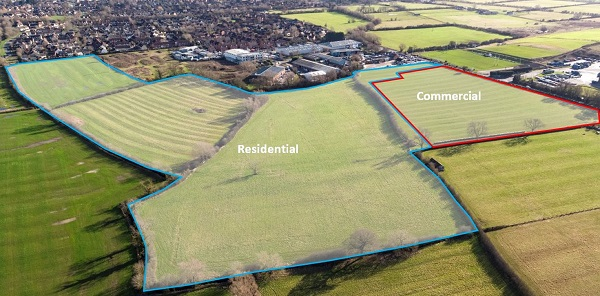 Land for 215 New Homes and Commercial Development Comes to Market